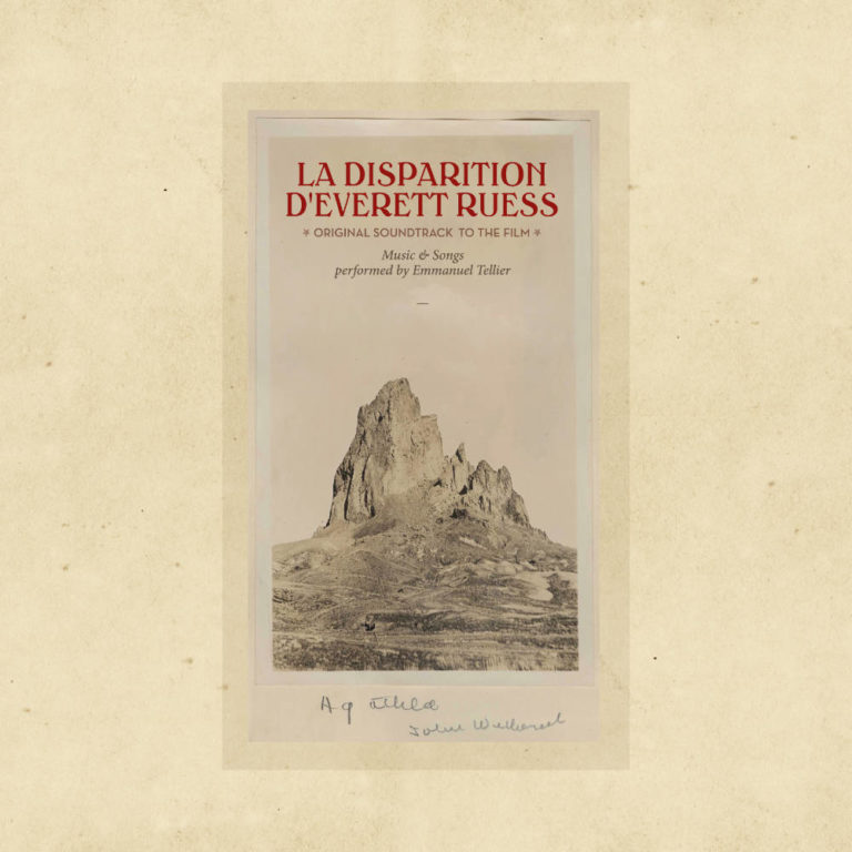 EMMANUEL TELLIER - La Disparition d'Everett Ruess - Album Cover - Artwork by Pascal Blua - 2019