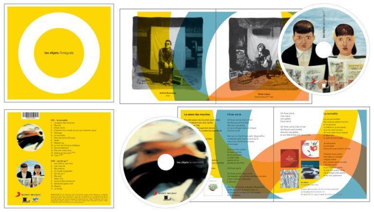 LES OBJETS - L'intégrale- CD Cover - Artwork by Pascal Blua - 2016