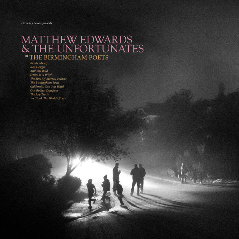 MATTHEW EDWARDS AND THE UNFORTUNATES - The Birmingham Poets - Album Cover - Artwork by Pascal Blua - 2019