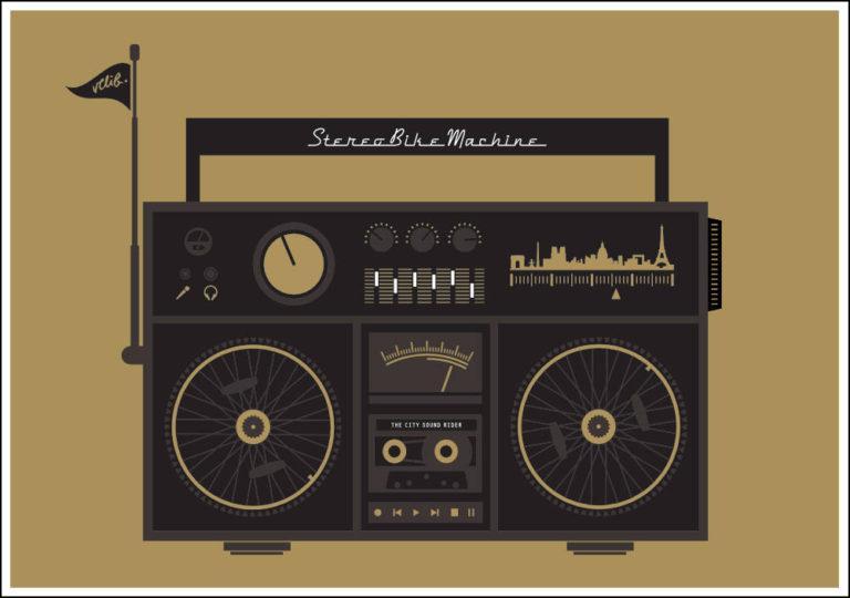 STEREOBIKE MACHINE - Artcranck / Velib' - Sérigraphie - Artwork by Pascal Blua - 2015