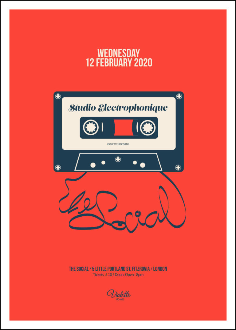 STUDIO ELECTROPHONIQUE - Live at The Social - Poster - Artwork by Pascal Blua - 2020