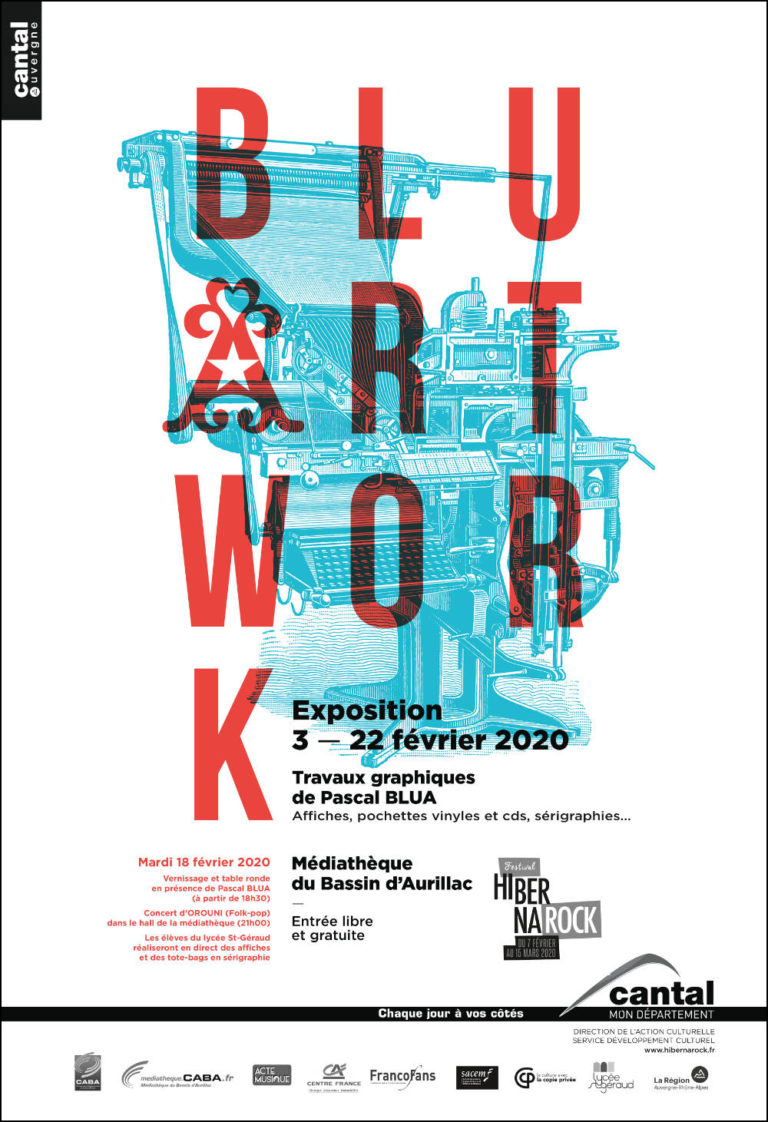 BLUARTWORK - Affiche Exposition - Artwork by Pascal Blua - 2020