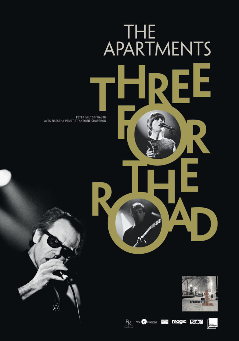 THE APARTMENTS - Three for the Road - Poster Tour - Artwork by Pascal Blua - 2016