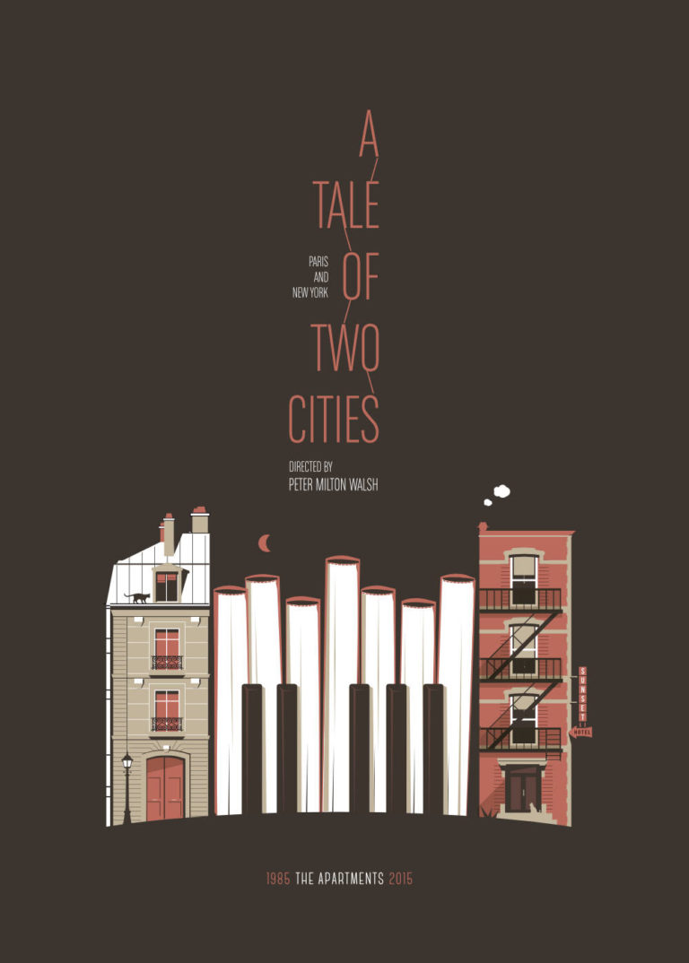 THE APARTMENTS - A Tale of Two Cities - Sérigraphie - Artwork by Pascal Blua & Stéphane Constant - 2015