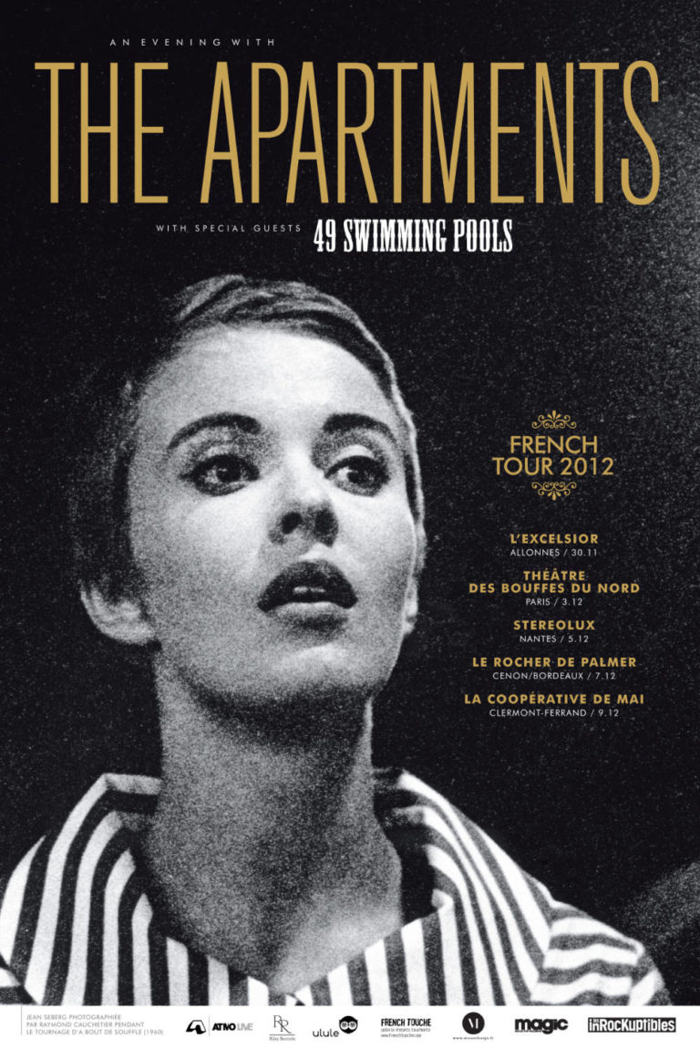THE APARTMENTS - An Evening with - Poster Tour - Artwork by Pascal Blua - 2012